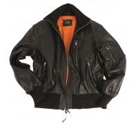 Куртка кожаная летная БВ, Mil-tec, черная.