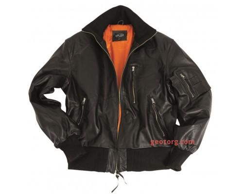 Куртка кожаная летная БВ, Mil-tec, черная