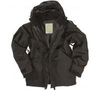 Милтек США куртка-мембрана с подстежкой черная