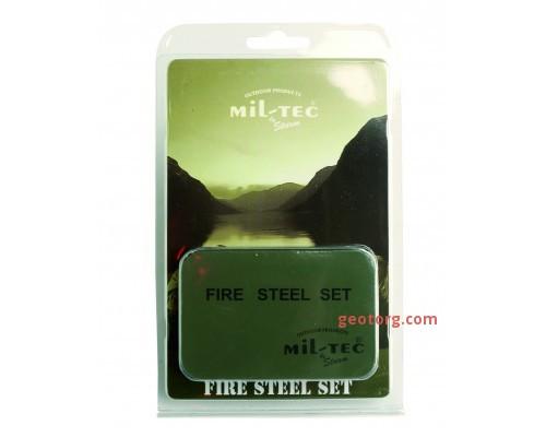 Огниво FIRE STEEL в футляре, Mil-tec