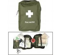 Аптечка первой помощи большая, Mil-tec, олива.