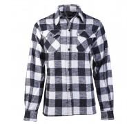 Фланелевая рубашка (черно-белая клетка)