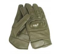 Милтек перчатки тактические кожа олива