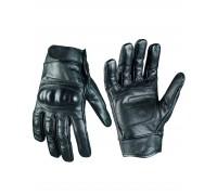 Милтек перчатки тактические кожа черные