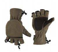 Милтек перчатки беспалые с клапаном флис олива