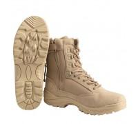 Милтек ботинки тактические с молнией хаки