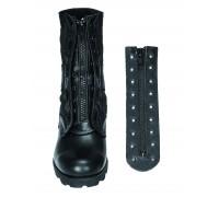 Застежка-молния кожаная на ботинки, 9-ти луночноя, Mil-tec, черная. Пара.