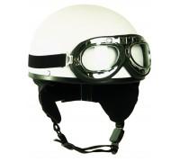 """Шлем """"HALBSCHALE"""" с защитными очками, Mil-tec, белый."""
