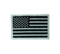 Нашивка флаг США матерчатый, черно-белый, Mil-tec.