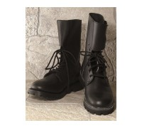 FRENCH FULL GRAIN LEATHER COMBAT BOOTS
