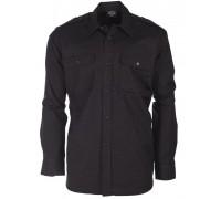 Рубашка армейская форменная, Mil-tec, черная.